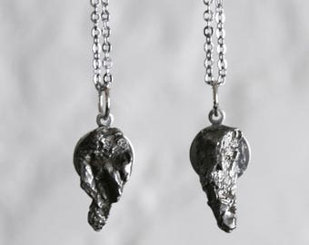 Pair of Campo del Cielo Meteorite Friendship Necklaces