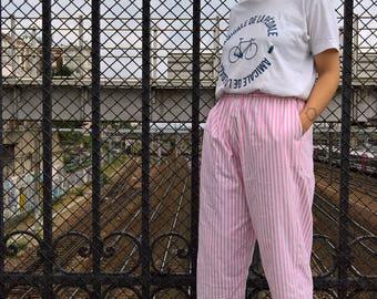 Baggy pants elastic waist