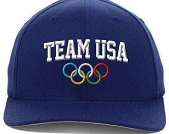 Team USA Olympics Embroidered, Flexfit Hat