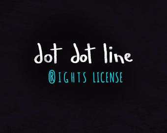 1 RIGHTS LICENSE  for 1 Clipart Set