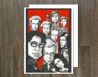 The Lost boys Eco Friendly, Cult Caricature Greeting Card