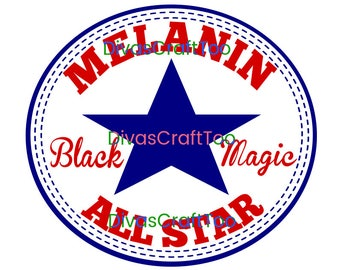Melanin Black Magic SVG