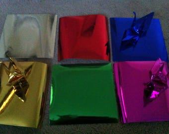 50 large origami cranes, 35.00