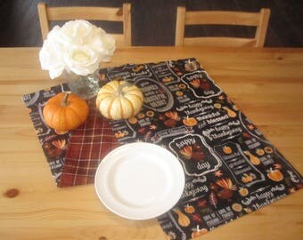 Thanksgiving Table Runner | Fall Table Runner, Plaid Table Runner,  Friendsgiving Table Decor,