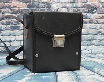 Vintage Square like bag; camera bag, purse, handbag, accessory case