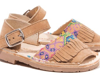 Solillas girls sandals folk fringe (FOLKLORICITO INFANT)