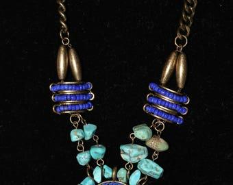 Turquoise Stone Round Necklace