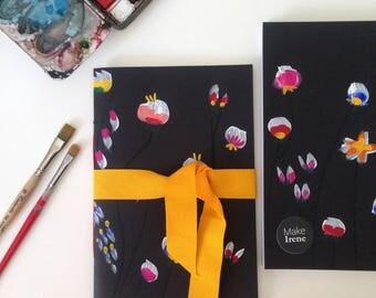 Notebook A5 handpainted