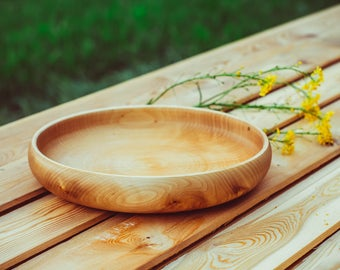 Traditional Wooden Bowl from Siberia