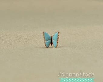 Butterfly - brass, copper blue