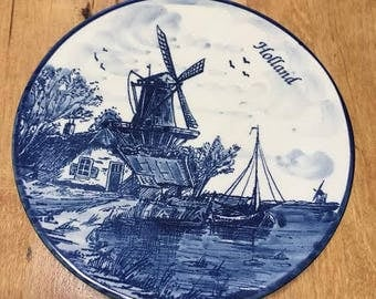 Dutch Delfts Decorative Plate or Wall Decor