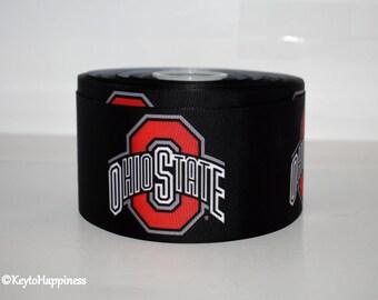 "Ohio State 3"" Grosgrain Ribbon T166A"