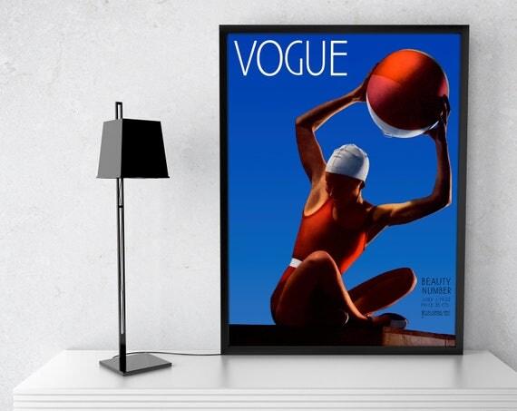 Vogue cover poster. Vintage magazine 1932 poster. Vogue cover