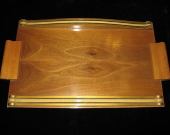 A Beautiful Vintage French Art Deco Wooden Serving / Drinks Tray ~ Circa 1930's
