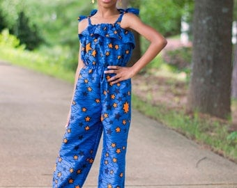 Girls Ankara Jumpsuit