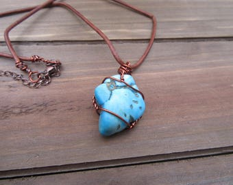 Turquoise Wire Wrapped Necklace