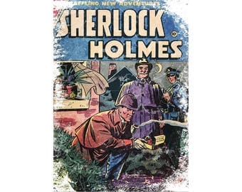T-SHIRT: Sherlock Holmes / Comic Book - Classic T-Shirt & Ladies Fitted Tee - (LazyCarrot)