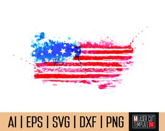 Flag heat transfer, Patriotic clipart, 4th of july clipart, usa clipart, watercolor clipart, flag watercolor, usa clip art, Instant Download