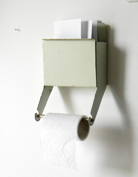 Vintage Toilet Paper Holder Soviet Metal Box And Paper
