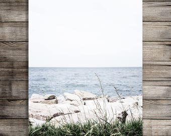 Printable Beach Photography Print, Chesapeake Bay Photo, Digital Download