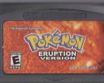 Gameboy Advance Game Boy GBA Pokemon Eruption Customized