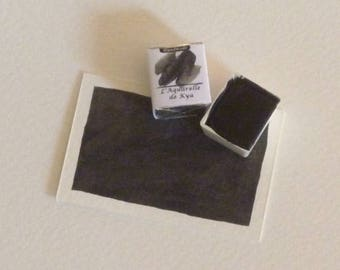 Black oxide 1/2 bucket of watercolor made hand _Handmade_