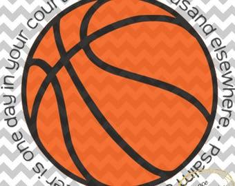 Basketball Psalm 84:10 SVG