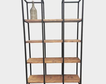 Handmade Reclaimed Wood Room Divider/Shelving Unit