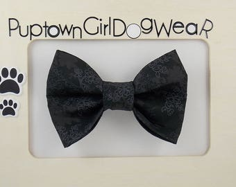 Photo Prop Bow  Black Dog Bow Tie Formal Bow Tie Wedding Bow Tie for Dog Photo Prop Bow Tie