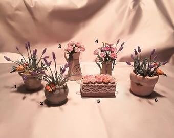 Vase of flowers 1:12 flowers vase