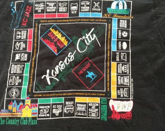 Black Kansas City vintage tourist souvenir t shirt medium M