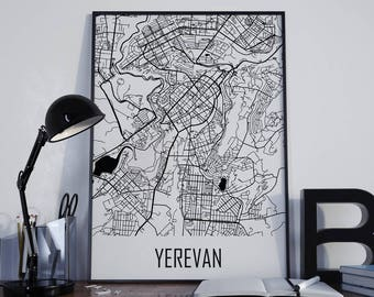Yerevan Map Yerevan Street Map Yerevan City Map Yerevan Travel Map Yerevan Map Poster Yerevan Map Photo Yerevan Map Print Yerevan Map Art
