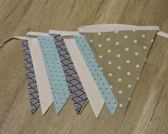 Garland geometric plain fabric flags