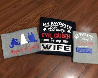 my favorite disney evil queen - disney trip, evil queenMom shirt, dad disney shirt,  disney shirt, boy shirt, girl shirt, favorite villans