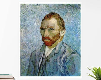 "Vincent Van Gogh, ""Self-Portrait"". Art poster, art print, rolled canvas, art canvas, wall art, wall decor"