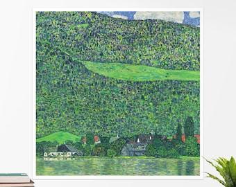 "Gustav Klimt, ""Litzlberg am Attersee"". Art poster, art print, rolled canvas, art canvas, wall art, wall decor"