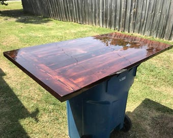 Kitchen Table Top - stained and clear coated