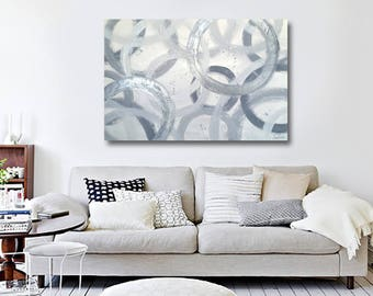 Gray painting, abstract painting, Original canvas art, , Abstract Painting