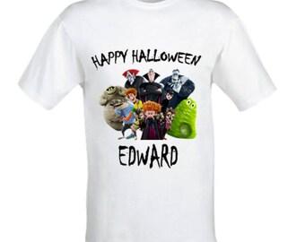 Hotel Transylvania shirt, Halloween Hotel Transylvania shirt, Boys Halloween shirt,Personalised Halloween shirt,Custom made shirt