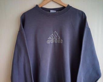Adidas sweatshirt large, Vintage Adidas sweatshirt, Adidas sweatshirt, vintage sweatshirt large, 90s Adidas sweatshirt grey, vintage Adidas