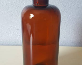 Vintage Apothecary Amber Jar