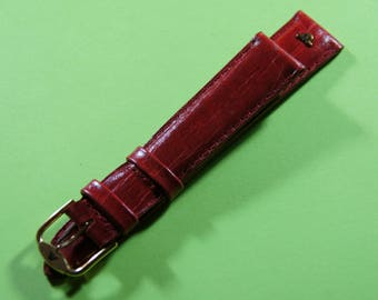 The Swiss brand watchband Maurice Lacroix leather exotic 18 mm