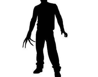 Freddy Krueger Horror Nightmare on Elm Street Vinyl Car Decal Bumper Window Sticker Any Color Multiple Sizes Halloween Merch Massacre