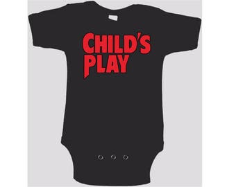 Childs Play Chucky Kids Children Shirt Bodysuit Many Sizes Colors Custom Horror Halloween Merch Massacre