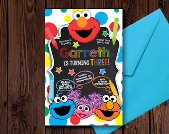 Sesame Street Birthday Invitation/Sesame Street Birthday/Sesame Street Invitation/Sesame Street Invitation Digital/Sesame Street Invites