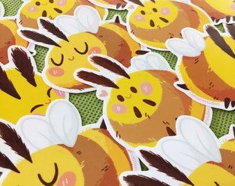 Cute Bee Stickers | Diecut Waterproof Bees Sticker Set | Bumblebee Stickers