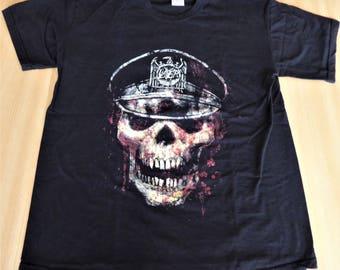 Slayer - Europe 2008 - Original Tour T Shirt  ( Size : Medium - In New State !!! ) .