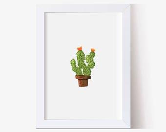 Cactus Succulent Painting,  Cactus Art, Watercolor Picture Cactus Art Print, Succulents Print, Succulent Picture, Watercolor Art,