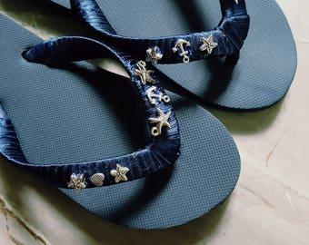 Beach Flip Flops, Bridal Flip Flops, Summer Flip Flops, Summer Sandals, Beach Wedding