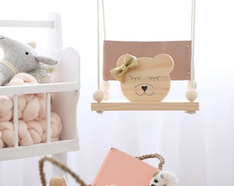 Tessa Bear -  wooden decor/ timber/nursery/baby shower gift/personalised decor/baby girl/timber decor/childrens decor/pastels